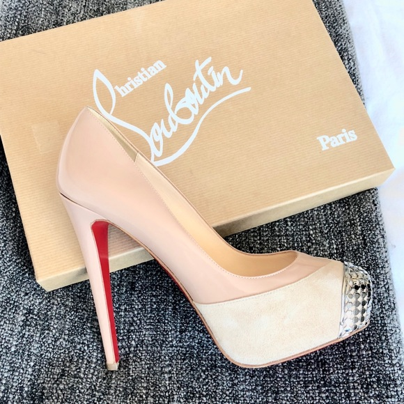 49f86a5c7 Christian Louboutin Shoes - Christian Louboutin nude maggie patent authentic